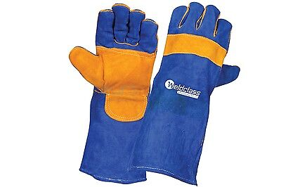 Weldclass Promax Blue Leather Left-Hand Welding Glove 1pr