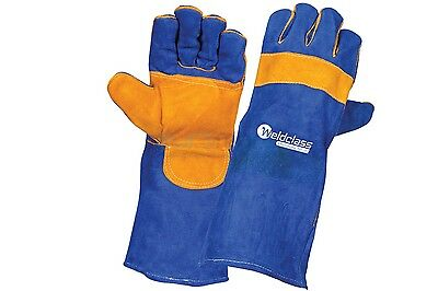 WeldClass Promax Blue Leather Left Hand Welding Glove 1pr