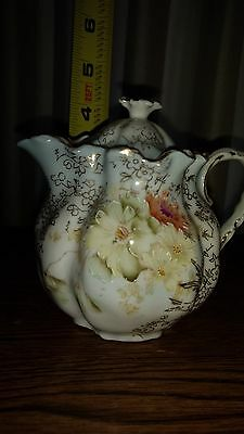 Antique Prussian Floral Covered Creamer