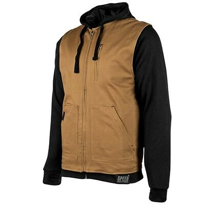 Speed and Strength Bikes Are In My Blood Vest/Hoody Brown Sm