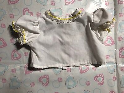 Cabbage Patch Kids Vintage Coleco Yellow And White Frilly Shirt  Suit Cute