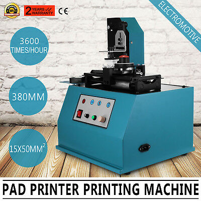 TDY-300C Pad Printer Printing Machine  Electromotive Square Plate UPDATED