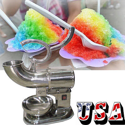 Electric Snow Cone Machine Ice Shaver Maker Crusher Bar Cafes Cold Drink Shaving