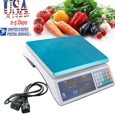 USA Digital Scale Price Computing Counting Weight Food Meat Produce Deli Market