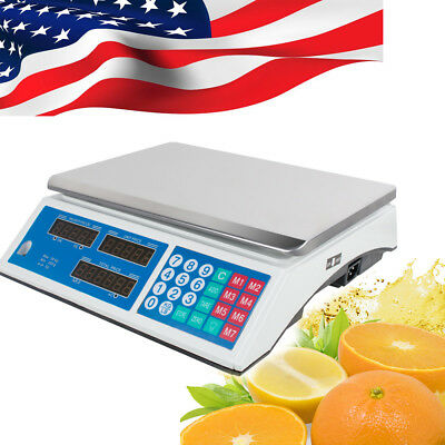 Digital Scale Price Computing Counting Weight Food Meat Produce Deli Market Shop