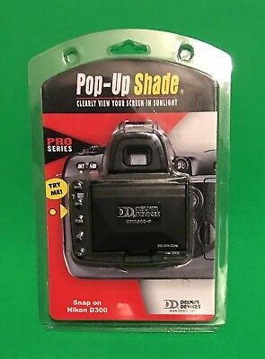 Delkin Pop Up LCD Shade Pro Series For Nikon D300 Brand New!!!