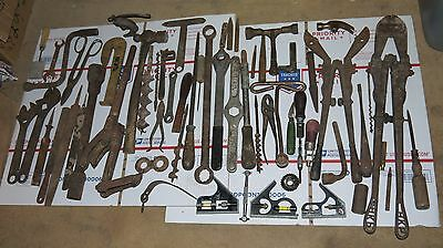 Vintage Lot of Old Tools Assorted Wrench Wrench, Clamp Rusty Metal Steam Punk