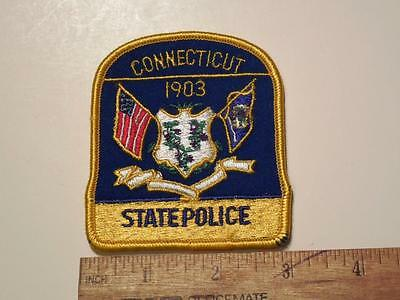 1990's Era Connecticut State Police Iron/Sew on Patch Type 2