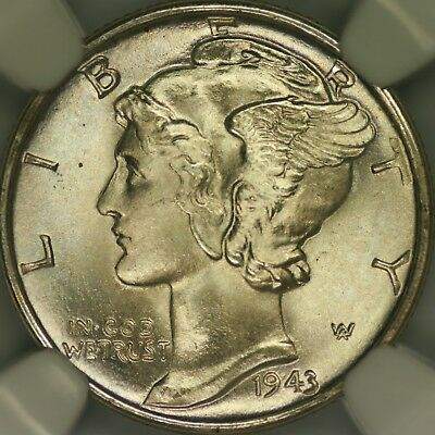 1943-D Mercury Dime NGC MS68FB