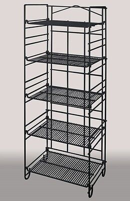 5-Tier Adjustable Box Canned Good Merchandiser Wire Rack Display Store Black NEW