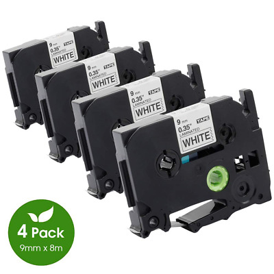 4pk TZe-221 TZ221 Label Tape Cassette Compatible for Brother P-Touch 9mm 8m
