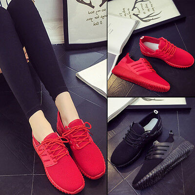 Fashion Women Shoes Lady Pumps Trainers Lace Up Mesh Sports Runnin Casual Gym