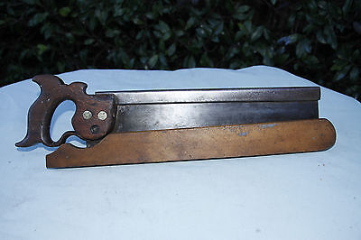 Antique J. Beardshaw & Sons 14in Tenon Saw.Shefield Eng. Great old tool