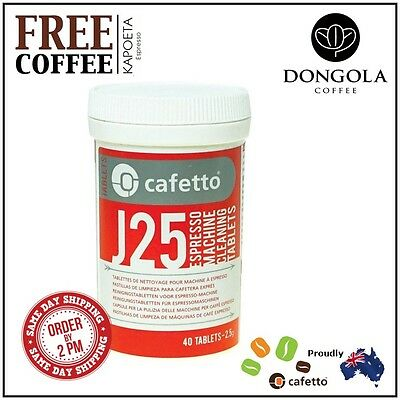 CAFETTO J25 Espresso Machine Cleaning Tablets Automatic Cleaner + KAPOETA Coffee