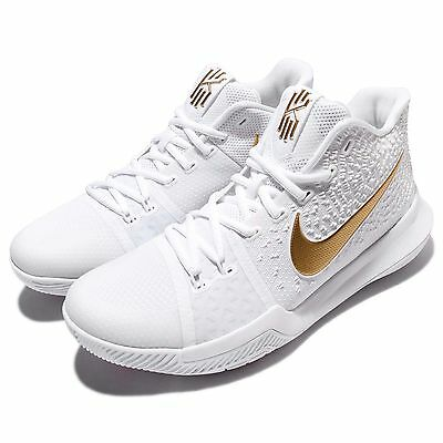 Nike Kyrie 3 EP III Irving Finals NBA White Gold Men Basketball Shoes 852396-902