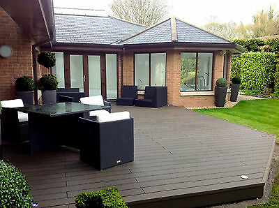 Composite Decking Clarity Walnut 41 Square Metre Pack (incl. fixings and screws)