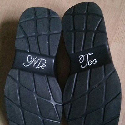 'Me Too' Pearl Wedding Shoe sticker decal - Ivory pearl colour