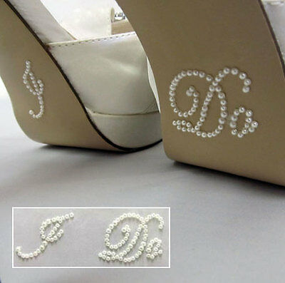 'I DO' Pearl  Wedding Shoe sticker decal - self adhesive