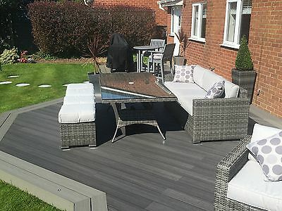 Composite Decking Forma Argent 25 Square Metre Pack (incl. fixings)