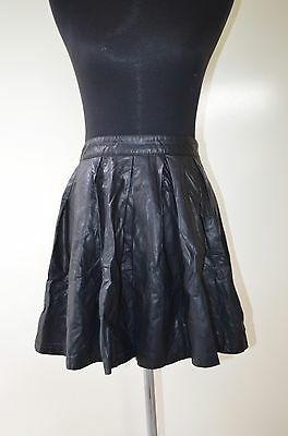 370fc2a0f8 Forever 21 Faux Leather Pleated Mini Skirt A line Party cocktail Skirt Size  M