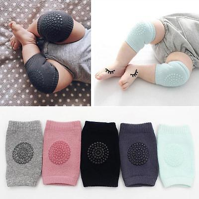 2x Baby Infant Toddler Anti Slip Crawling Knee Pads Safety Cushion Protector Leg