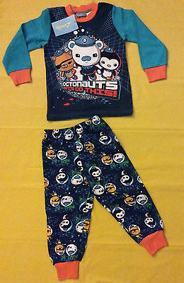Boys Blue Octonauts Pyjamas *New* 100% Cotton