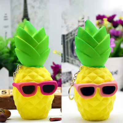 Soft Squishy Pineapple Fruit Squeeze Slow Rising Phone Strap Relieve Stress Toy