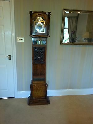 Beautiful Grandmother Clock with Handcrafted Case