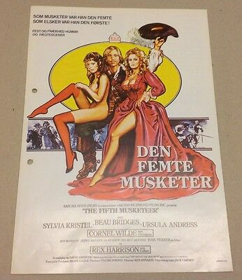 """The Fifth Musketeer"" Ursula Andress Bridges 1979 Danish Movie Press Release Kit"