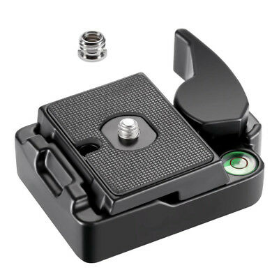 Quick Release Plate Clamp Mount Clamp Adapter for Manfrotto Tripod Monopod