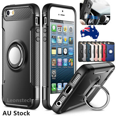 For iPhoneX S R MAX 876plus 6s Shockproof Bumper Magnetic Ring Holder Case Cover