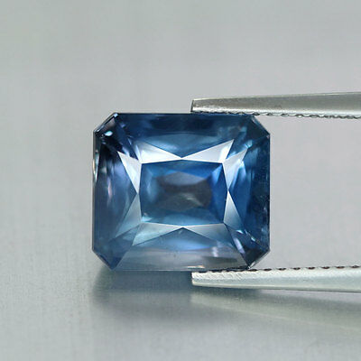 6.32 cts~Emerald Cut~Very Rare~Bluish Grey~Namibia Natural~Apatite~GQ573