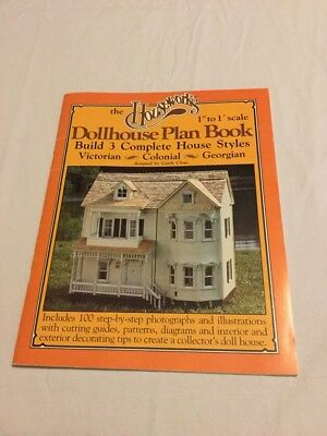 "Houseworks 1001 Dollhouse Plan Book 1"" to 1' scale"