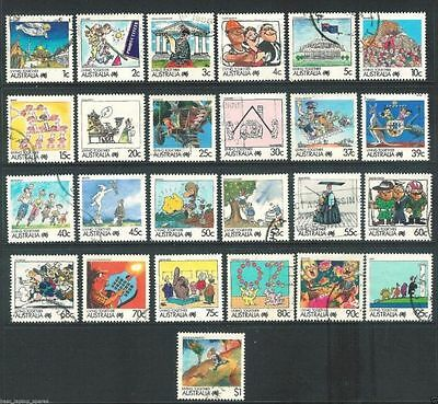 Australian Stamps/ Living together Set / 1988/ Fine Used/ 25 Stamps of 27 issued