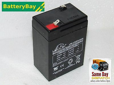 NEW RECHARGEABLE 6V 4ah - SEALED LEAD ACID BATTERY