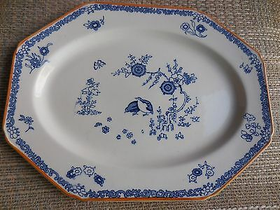 Antique Blue White Platter Old Bow Kakiyemon Woods & Sons Ralph Enoch
