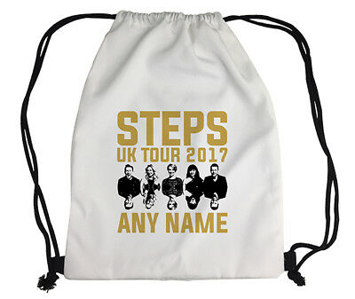 Personalised Steps 2017 Tour Printed Kids Drawstring Gym Bag Canvas Gift Idea
