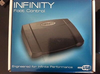 Infinity Foot Control USB Pedal For Transcription Typing Speed Sound Control