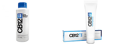 CB12 500ml Mint/Menthol Mouthwash + CB12 100ml Strong Mint toothpaste