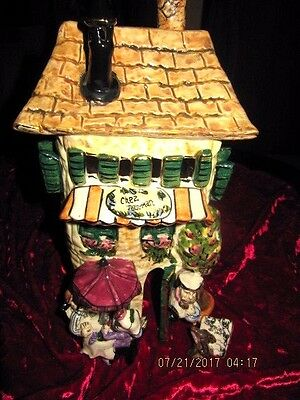 Blue Sky Halloween Heather Goldminc Chez Jean-Marc Tea Light Candle House 2000