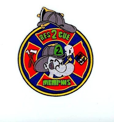 MEMPHIS TENNESSEE TN FIRE Police Patch RESCUE 2 POPEYE PIPE ~
