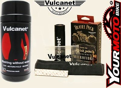 Vulcanet Motorcycle Cleaning Wipes Waterless System with Travel Kit