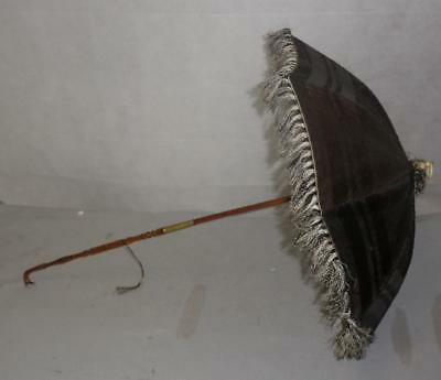 *vintage/antique Petite Ladies Umbrella/parasol- Black & White Canopy
