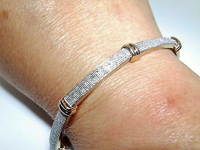 A FINE 9CT 9KT YELLOW  GOLD DIAMOND BAR  LINE  BRACELET 12.9g