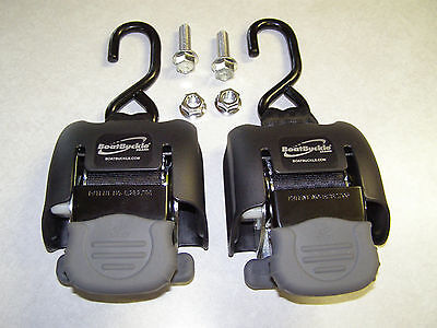 Boat Buckle G2 Retractable TIE-DOWNS  (F08893) Sold as 1 PAIR
