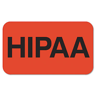 Tabbies Medical Labels for HIPAA 7/8 x 1-1/2 Orange 250/Roll 07190