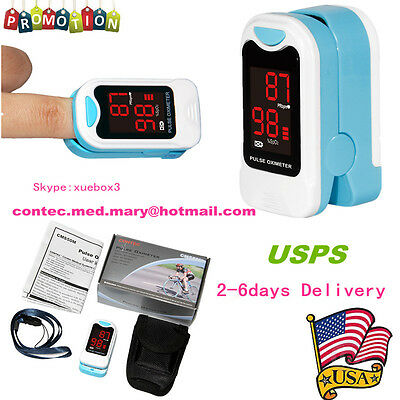 ,Fingertip pulse oximeter, blood oxygen monitor Case& Lanyard(hot sale)CE&FDA