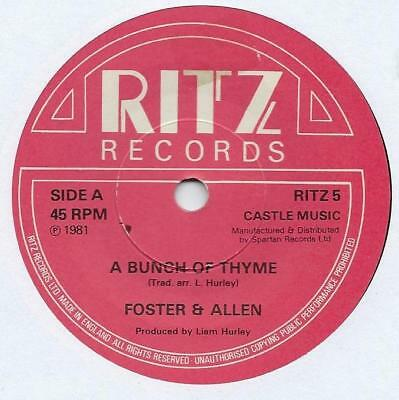 "Foster & Allen - A Bunch Of Thyme - 7"" Single"