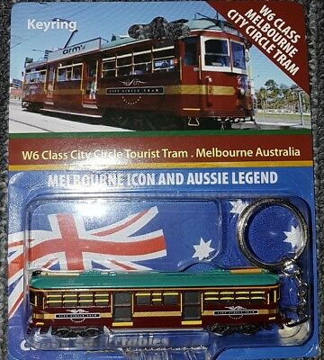 1:160 Scale Melbourne City Circle Tourist W6 Class Tram Keyring