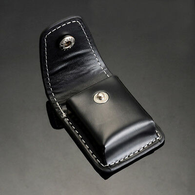 Hot Fashion Geniune PU Leather Cigarette Lighter Sheath Pouch Case Holder Black